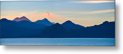Lake With Mountains In The Background Metal Print by Panoramic Images
