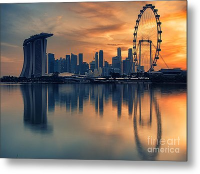 Landscape Of The Singapore Metal Print