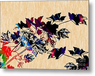Leaves Painting Metal Print by Marvin Blaine