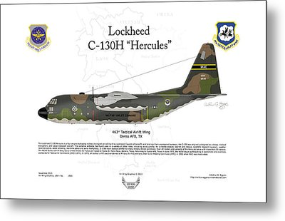 Lockheed C-130h Hercules Metal Print