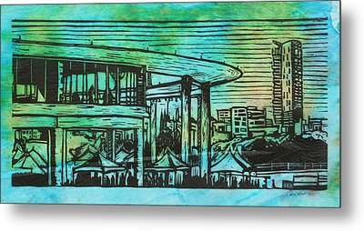 Long Center Metal Print