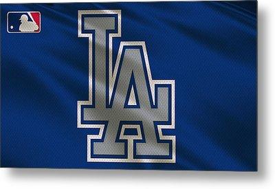 Los Angeles Dodgers Uniform Metal Print