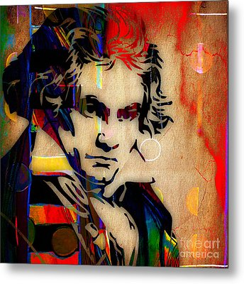 Ludwig Van Beethoven Collection Metal Print by Marvin Blaine