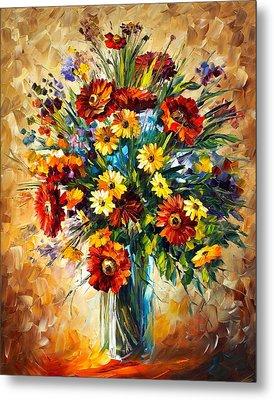 Magic Flowers Metal Print by Leonid Afremov