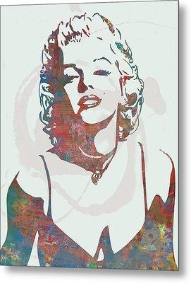 Marilyn Monroe Stylised Pop Art Drawing Sketch Poster Metal Print