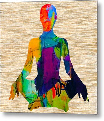 Meditation Metal Print by Marvin Blaine