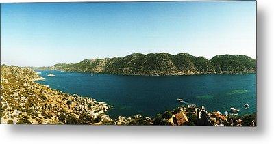 Mediterranean Sea Viewed Metal Print by Panoramic Images