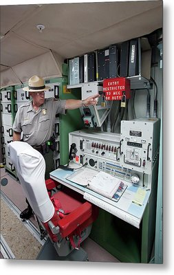 Minuteman Missile Control Room Metal Print by Jim West