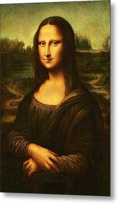 Metal Print featuring the painting Mona Lisa  by Leonardo Da Vinci