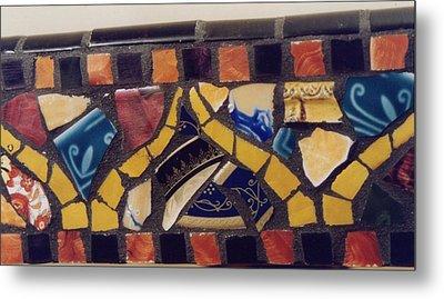 Mosaic Table Top Metal Print by Charles Lucas