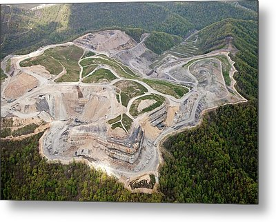 Mountaintop Removal Coal Mining Metal Print by Jim West