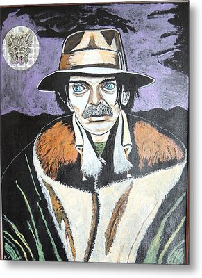 Metal Print featuring the painting Mushrooms With Captain Beefheart. by Ken Zabel