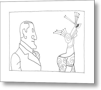New Yorker February 20th, 1995 Metal Print by Saul Steinber