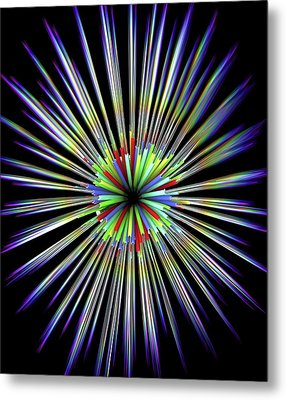 Optical Fibre Cable Metal Print by Alfred Pasieka