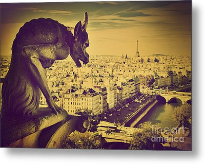 Paris Panorama France  Metal Print by Michal Bednarek