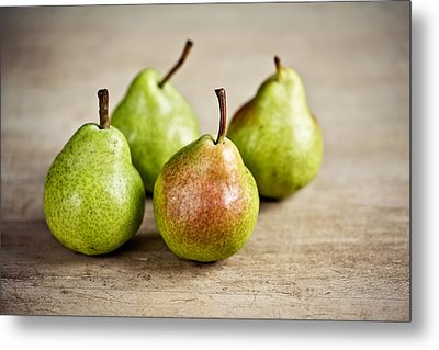 Pears Metal Print by Nailia Schwarz