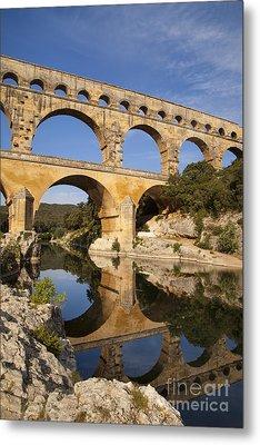 Pont Du Gard Metal Print by Brian Jannsen