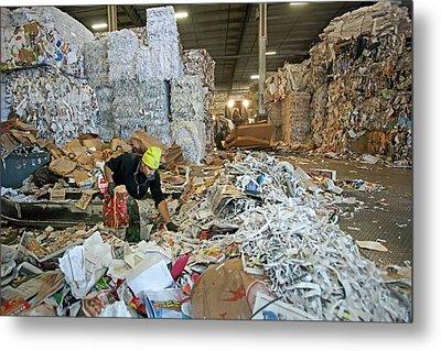 Recycling Plant Metal Print
