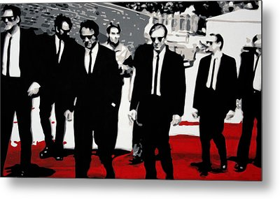Reservoir Dogs Metal Print by Luis Ludzska