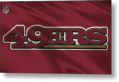 San Francisco 49ers Uniform Metal Print by Joe Hamilton