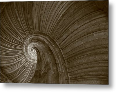 Sand Stone Spiral Staircase Metal Print by Falko Follert