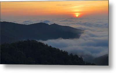 Shenandoah Sunrise Metal Print by Stephen  Vecchiotti