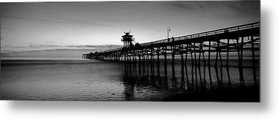Silhouette Of A Pier, San Clemente Metal Print by Panoramic Images
