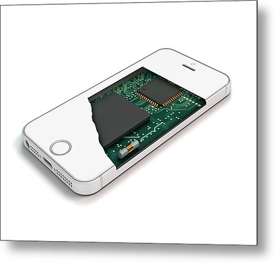 Smartphone Structure Metal Print