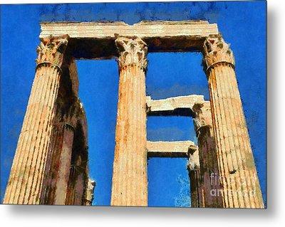 Temple Of Olympian Zeus  Metal Print