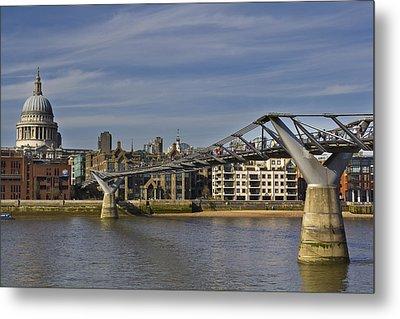 The Millennium Bridge Metal Print