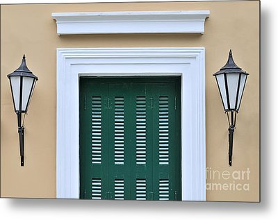 Traditional Architecture In Plaka Metal Print