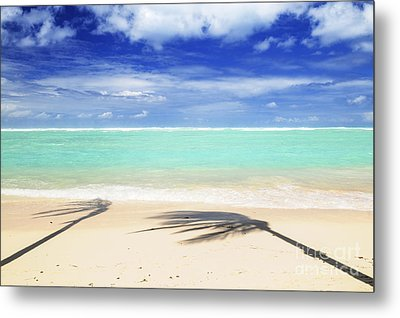 Tropical Beach Metal Print by Elena Elisseeva