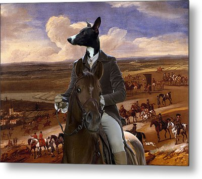 Whippet  Art Canvas Print Metal Print by Sandra Sij