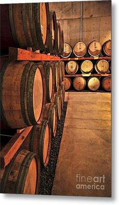 Wine Barrels Metal Print by Elena Elisseeva