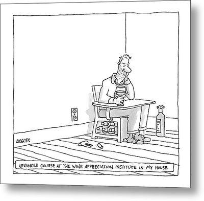 New Yorker July 2nd, 2007 Metal Print by Jack Ziegler