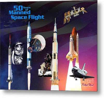 50 Years Of Manned Space Flight Metal Print by Richard Beard
