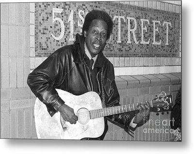 Metal Print featuring the photograph 51st Street Subway Musician by John Telfer