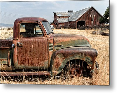 '54 Chevy Put Out To Pasture Metal Print