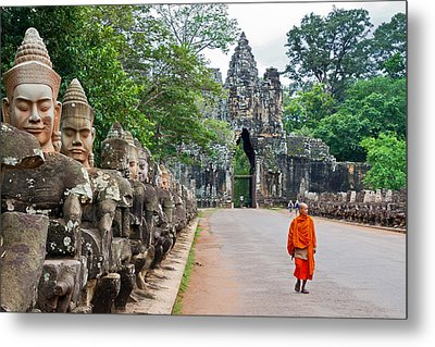 54 Gods And A Monk Metal Print