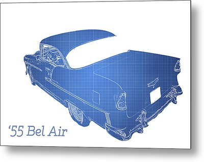 Classic Car Metal Print featuring the photograph '55 Bel Air by Aaron Berg