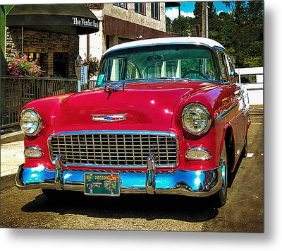 55 Chevy Coupe Bel Air Metal Print
