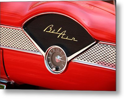 Classic Car Metal Print featuring the photograph '56 Bel Air by Aaron Berg