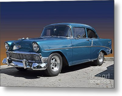 56 Chevy Metal Print by Robert Meanor