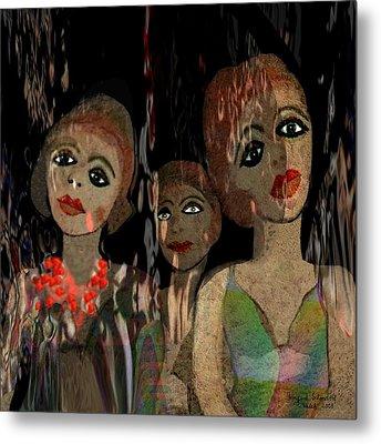 562 - Three Young Girls   Metal Print