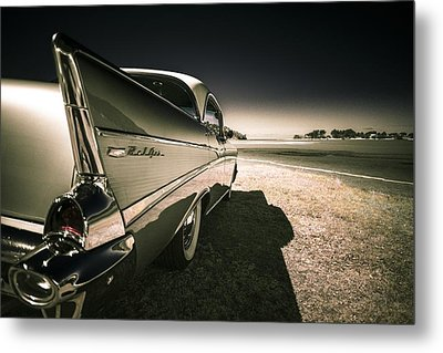 57 Chevrolet Bel Air Metal Print by motography aka Phil Clark