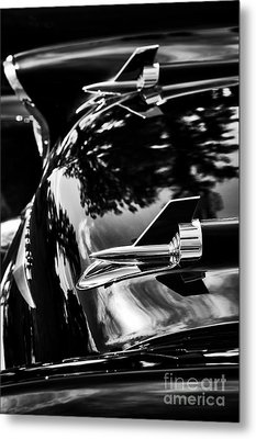 57 Chevrolet Hood Rockets Monochrome Metal Print by Tim Gainey