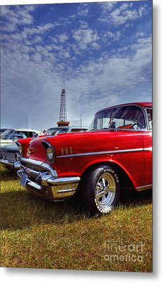 Metal Print featuring the photograph 57 Chevy Belair by Trey Foerster