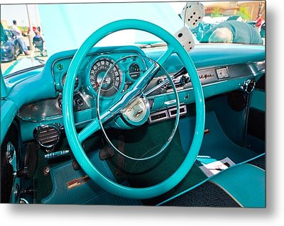 57 Chevy Belair Turquoise Metal Print