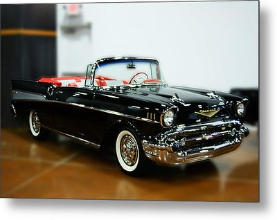 Metal Print featuring the photograph 57 Chevy Convertible  by B Wayne Mullins