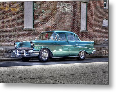 '57 Chevy Metal Print by Tony  Colvin